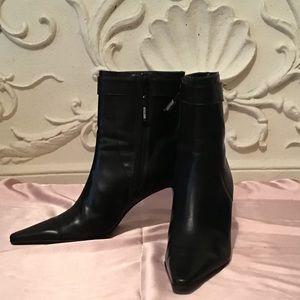 Ralph Lauren Marienette Pointed Toe Leather Bootie
